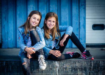 Fotoshoot kinderen industrieel